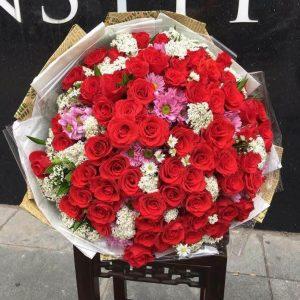 Bó hồng đỏ sang trọng lãng mạn nhất