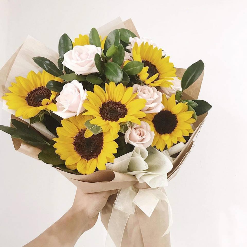 bó hướng dương là hoa tươi hẹn hò không thể bỏ qua