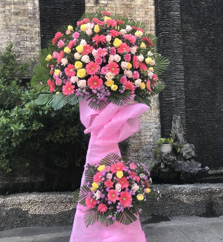 lẵng hoa giá trị làm quà tặng hoa tươi khai trương