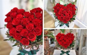 bó hoa hồng là lựa chọn hoa tươi Valentine không thể bỏ qua